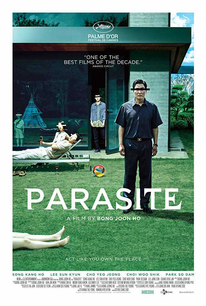 """Just finished watching """"Parasite"""" (2019) or """"Gisaengchung""""  That is a damn good, crazy film. Every act had me in suspense at what was happening and what might happen next. pic.twitter.com/oY8uwWlIpI"""