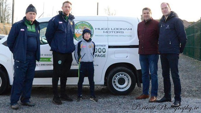 test Twitter Media - Hugo Loonam Motors have generously sponsored a kit van for the Offaly hurlers again this year.  Hugo Loonam (right) and his son, Hugo jnr, are pictured with Offaly hurling kit man Michael Spain, Offaly hurling manager Michael Fennelly & County Board Chairman, Michael Duignan. https://t.co/6xy96w1MQe