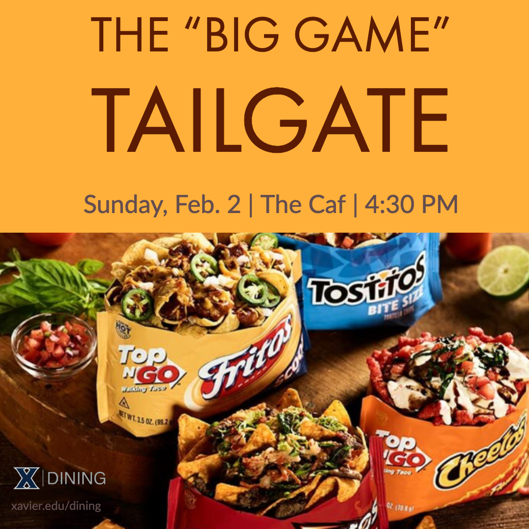Is there anything better to do before a game than tailgate? 🤔  #tailgate #thebiggame #biggame #caf #mealplan #xavieruniversity