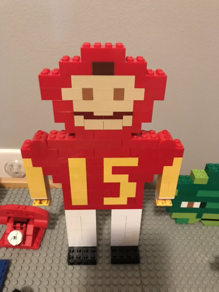 When you play legos for hours on end and your four-year-old son asks you to build @PatrickMahomes. I am not a LEGO artist but he absolutely loves it! #GoChiefs <br>http://pic.twitter.com/BMZl6GPZQV