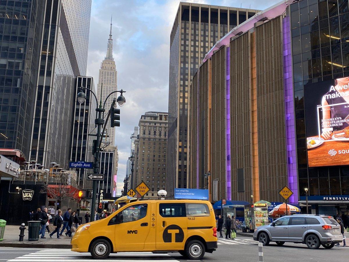 El Madison se tiñe de purple & gold pic.twitter.com/vvxqQO7t5l