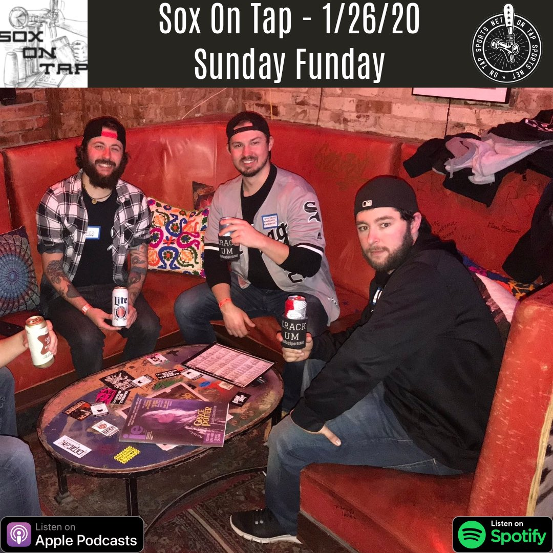 Sunday Funday is back! @TonyOnTap @BuzzOnTap & @NonnieJonnie discuss:  - SoxFest Afterparty - SoxFest takeaways - Grandal's impact - Cishek & the pen - Eloy DH comments - Kopech's return - Sox prospects in top 100 - Tailgate hype/plans - Shoutouts  🎧 https://podcasts.apple.com/us/podcast/sox-on-tap/id1460038507#episodeGuid=060a6013-c651-47c2-ac14-d9886be460b7…