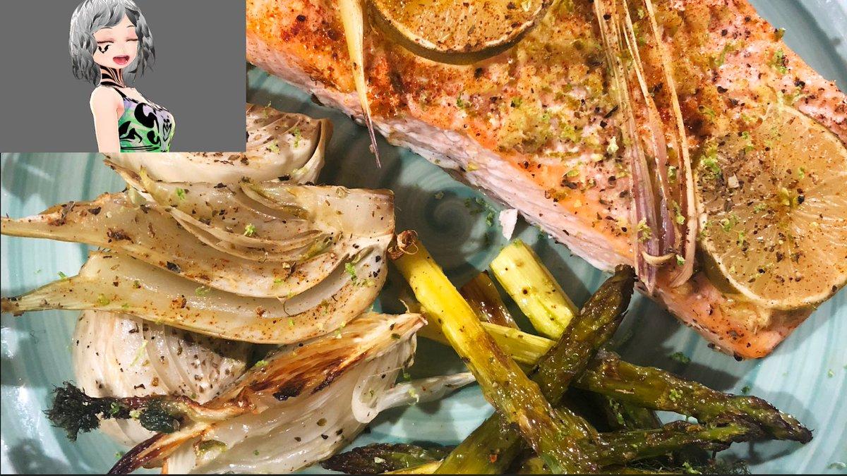Editing this quick salmon recipe video for the future channel. food = life 簡単なサーモンレシピの動画をやっています。日本語で字幕する予定ですから、日本語と英語で動画をしたいです。#VTuber #food #料理