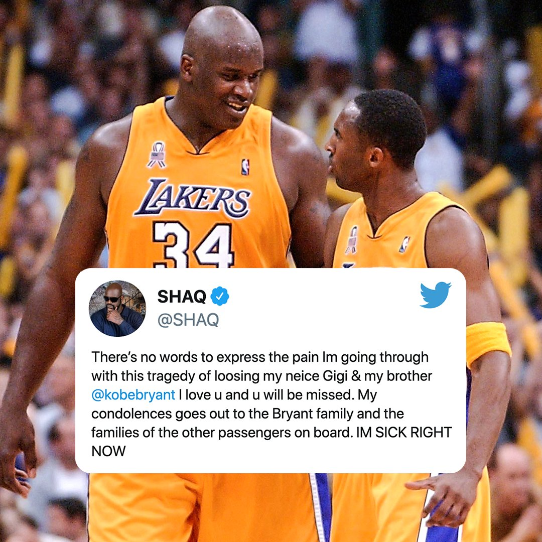 The NBA world mourns the death of Kobe Bryant.