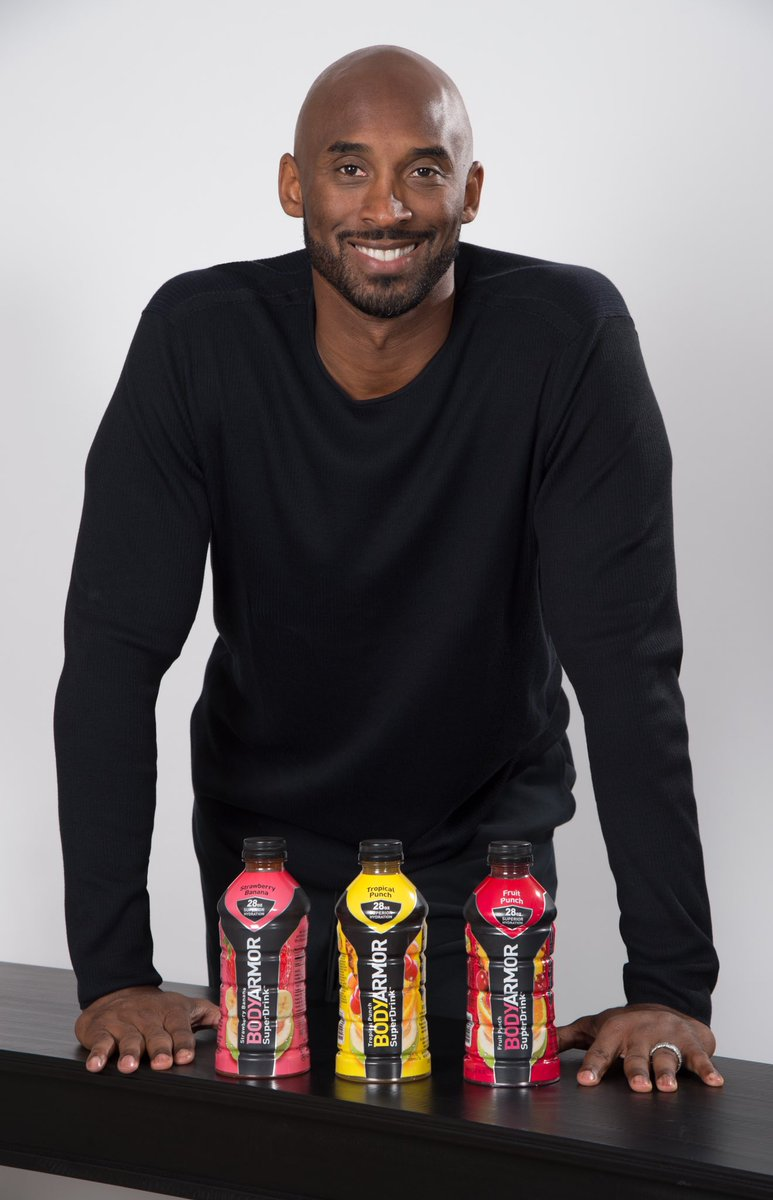 Words cannot express the heartbreak we feel right now. Kobe Bryant was more than a legend to us. He was an incredible friend to the entire BODYARMOR team and a devoted family man & father. Our thoughts and prayers are with Kobe's family and everyone affected by this tragedy.