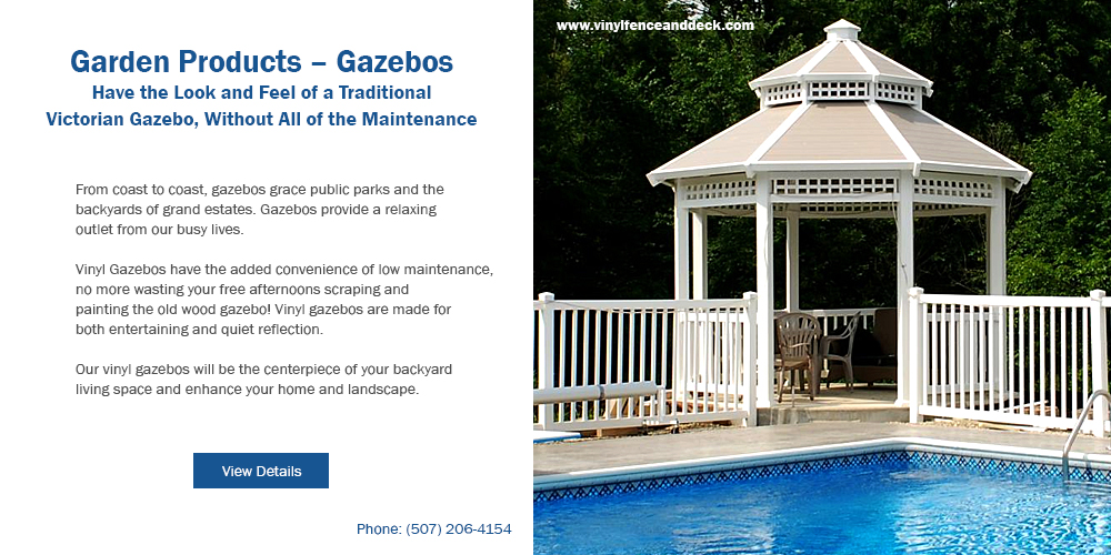 Vinyl Gazebos, Patio Covers, and Arbors - Many Styles, Sizes & Options - Attached or Free Standing http://vinylfenceanddeck.com Call for a FREE Quote! (507) 206-4154 #OutdoorLiving #Arbors #GardenProducts #PatioCoverpic.twitter.com/cvg9FUHQLN
