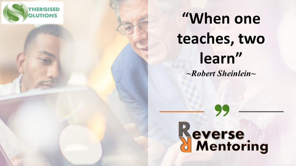 Organisations have a great advantage when introducing  programmes such as Reverse Mentoring as part of their workforce developmental strategies and initiatives.    For more information: contactus@synergisedsolutions.com #ReverseMentoring #TalentPipeline #OrganisationalGrowth<br>http://pic.twitter.com/u5PAXYRJcS