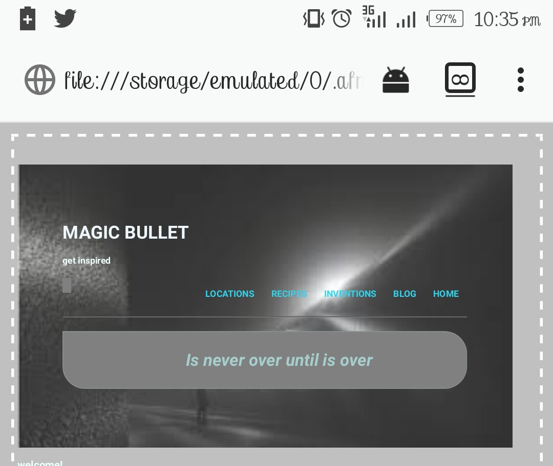 26 of #100Daysofcode I was able to design the header with navs. Coding with my phone.  #100daysofcode #CodifyNigeria  @js_tut<br>http://pic.twitter.com/k7QoBG4Fl0