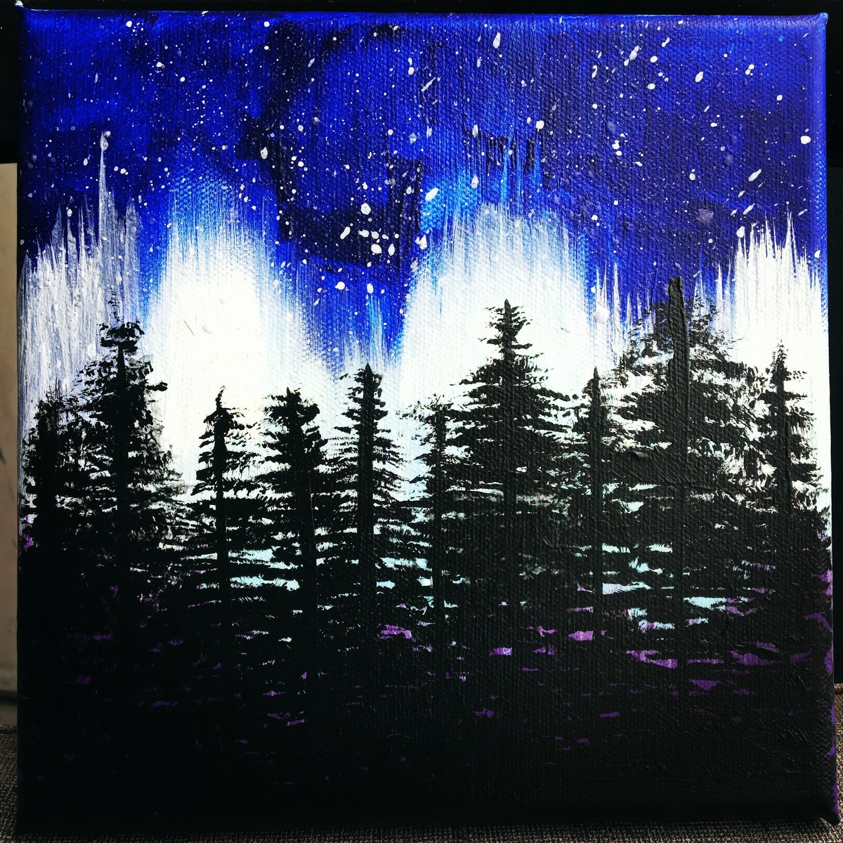 My night sky I finished a couple weeks ago as well. I love the trees, and background. #painting #art #artwork #artist #paintings #myart #aesthetic #nature #beautiful #traditionalart #draw #amazing #skypic.twitter.com/YLlqPvE7wM