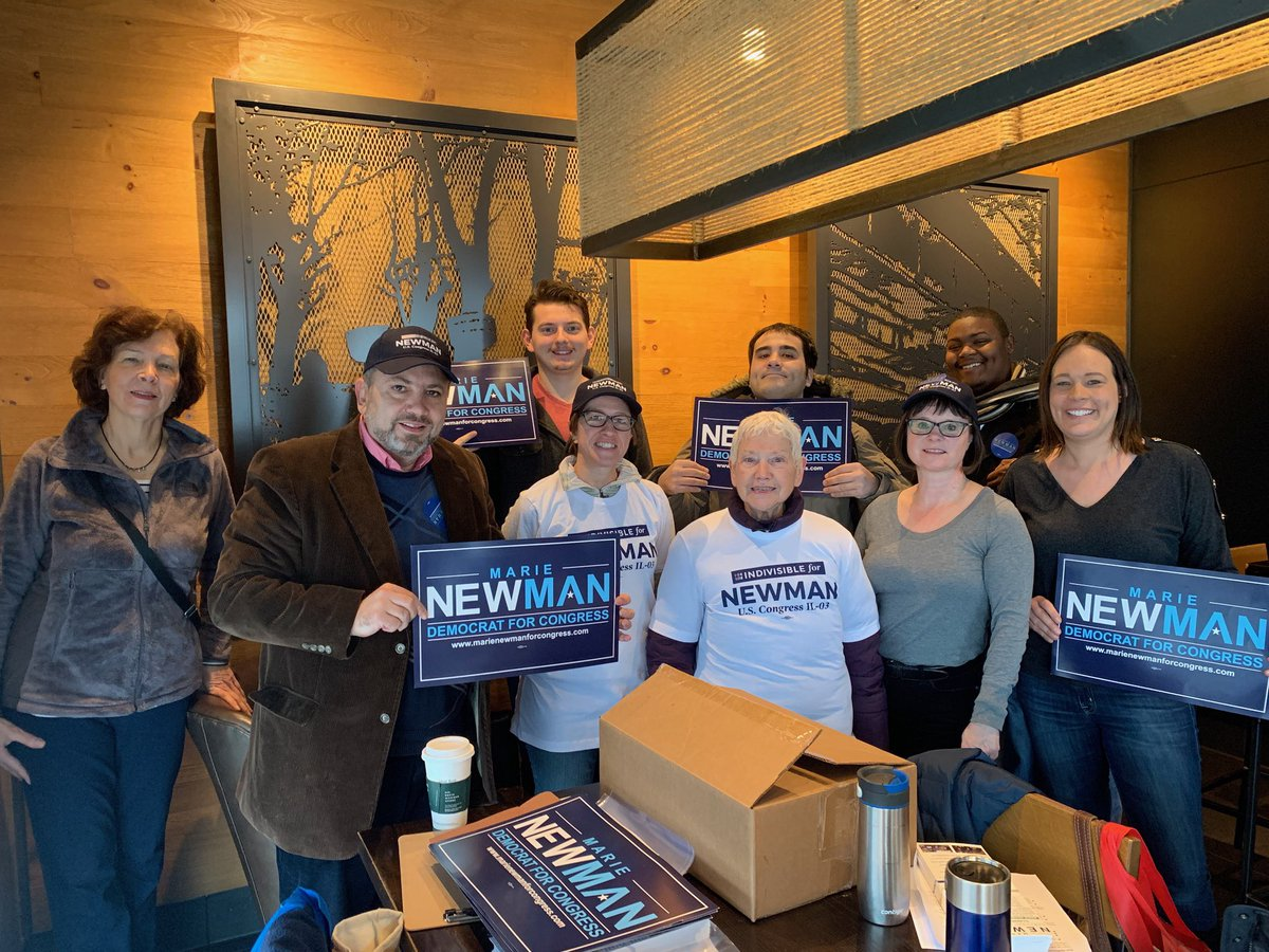 Great weekend on the doors across #IL03! There are seven weekends left until Election Day, and we need you canvassing in order to get a #NewDayInIL03. To sign up and put in the work to elect a real Democrat, check here:  https://www. mobilize.us/marienewmanfor congress/  … <br>http://pic.twitter.com/51VPyj48sg