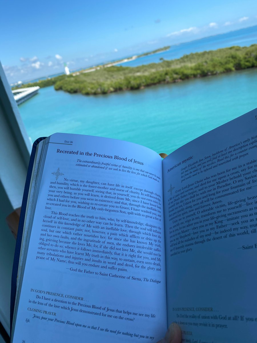 test Twitter Media - Day 26 of #FGYearWithTheMystics2020 finds me on @TheRockBoat in the port of Belize reading with Saint Catherine of Siena. Humble yourself, seeing that, in yourself, you do not even exist. @kathrynlopez https://t.co/tehXMiGZyp