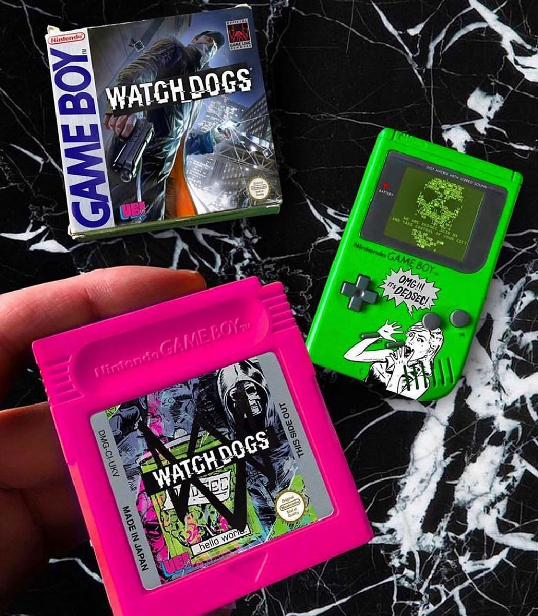 Boy I just loved playing some #WatchDogs on the #GB #Gameboy growing up. pic.twitter.com/kWj4FuSgKh