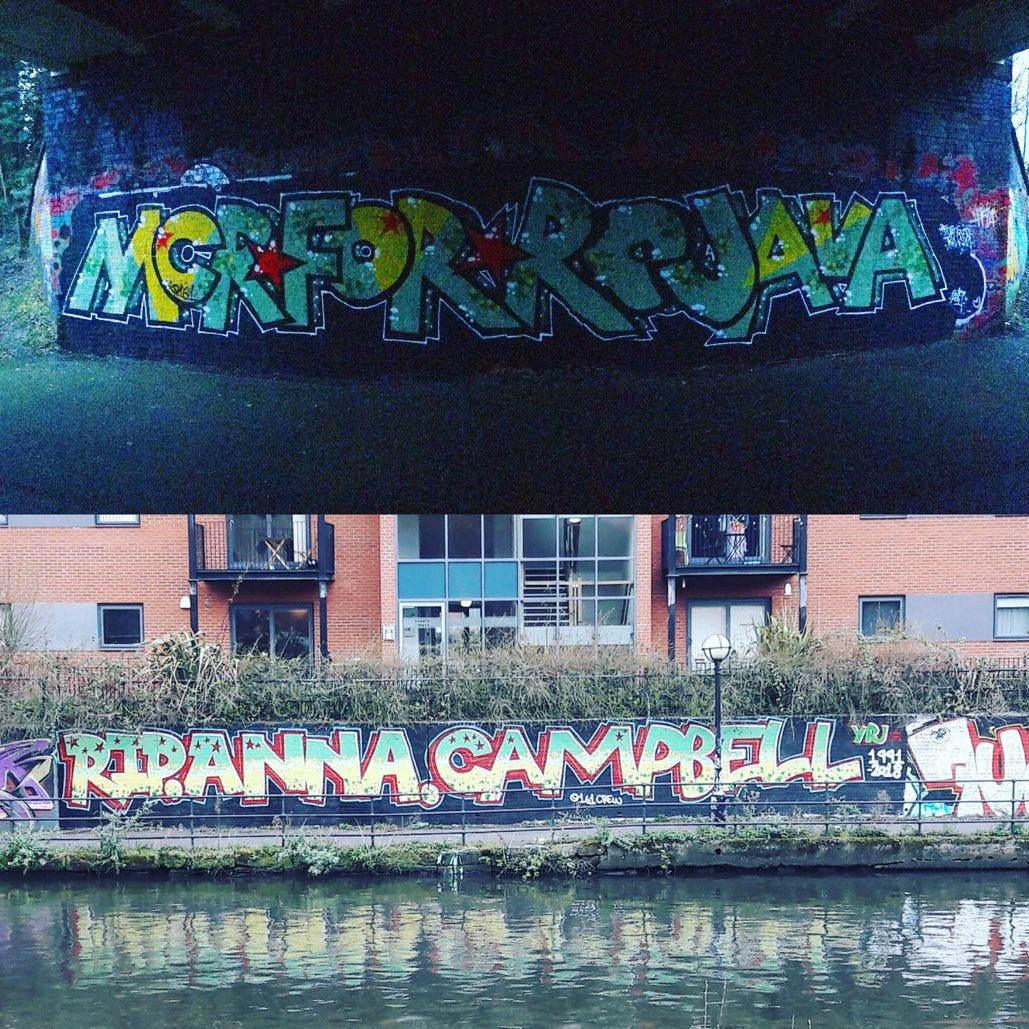 曼彻斯特的涂鸦艺术家声援 #ROJAVA #罗贾瓦。  这些美丽的图画被用来纪念Anna Campbell,她在阿夫林的战斗中失去了生命。  持续关注,使他们受到的伤害被铭记。为自由而斗争,为罗贾瓦而斗争!  #riseup4rojava  #WomendefendRojava #graffitiart pic.twitter.com/2VBQdM3GXX
