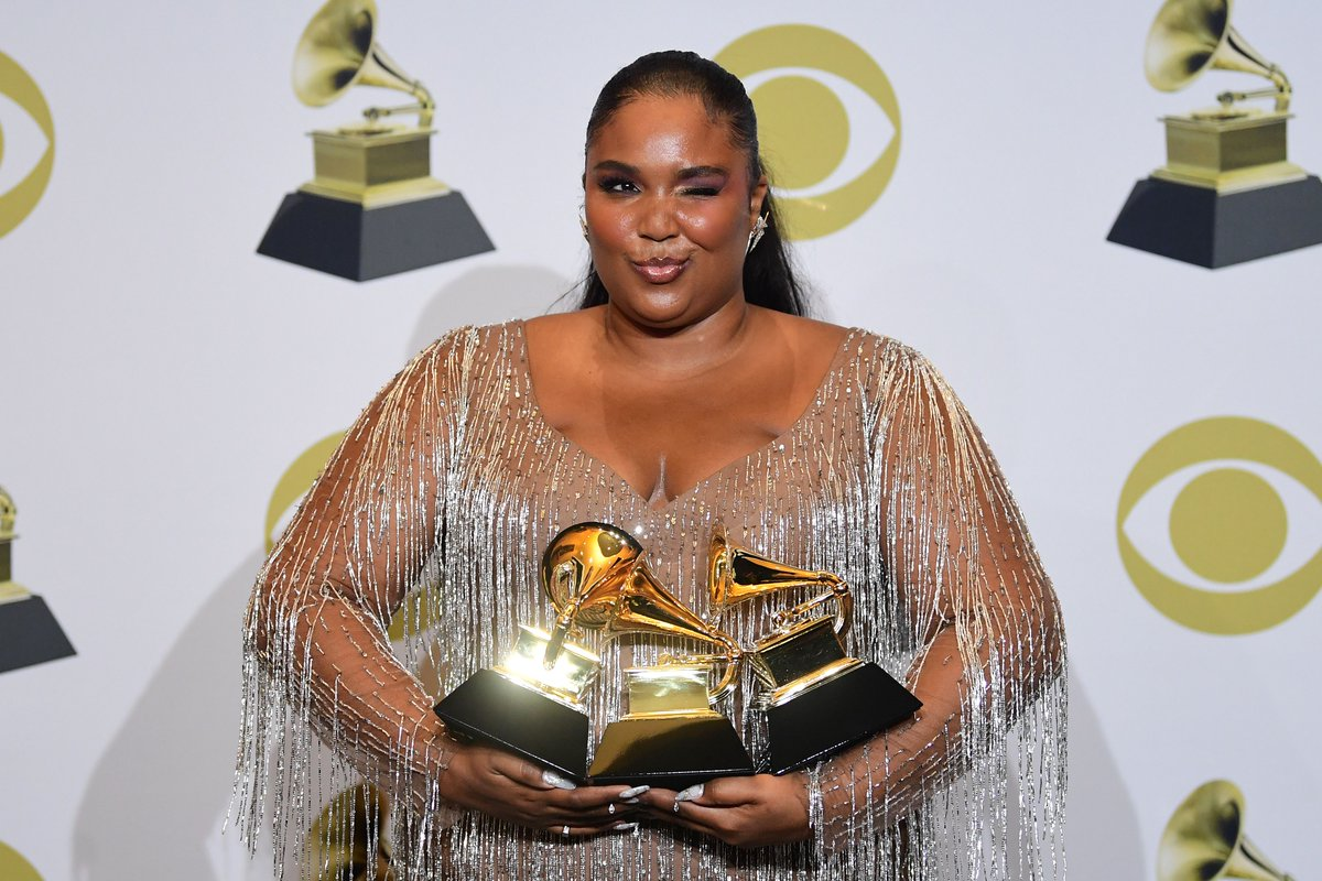 Image result for Lizzo 3 Grammys Images