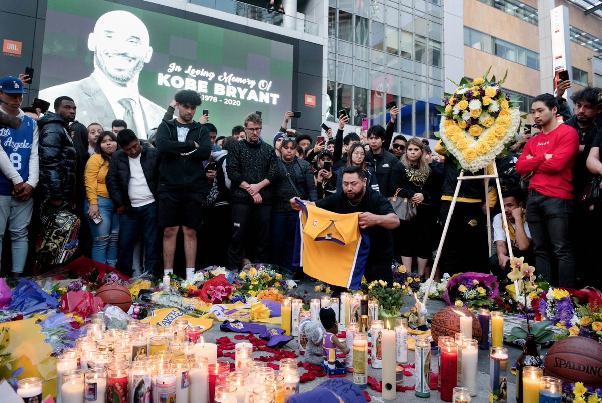 LA residents react to the death of Kobe Bryant outside Staples Center: 'We're really feeling heartbroken right now.'