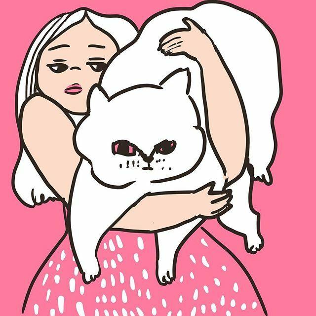 猫がデカイのよ #illustration #イラストレーション #猫pic.twitter.com/gbHgOhJXhh