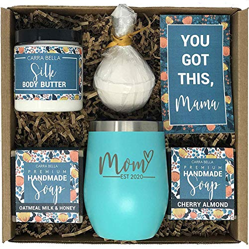 New Mom #Gifts #Ideas | Mom #Est. #2020 Spa #Gift Box | #BEST #Present #Idea for #First #Time #Mommy w/New #Baby | #Cute #Expecting #Mother to be #Baby #Shower #Presents for Her #Pregnancy - .  #WNew