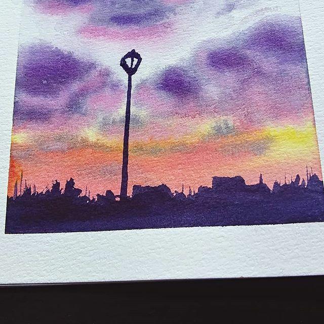 Still so far from where I want to be ↟↟ #sunsetart #sunset #sunsetlovers#watercolorsunset #watercolorpainting #watercolorart #sketchbookartist #traditionalart #artistsoninstagram #artofinsta #indianaartist #indyartist #studiocaprittarius https://ift.tt/38ExX0Opic.twitter.com/3tYuIAQSN8