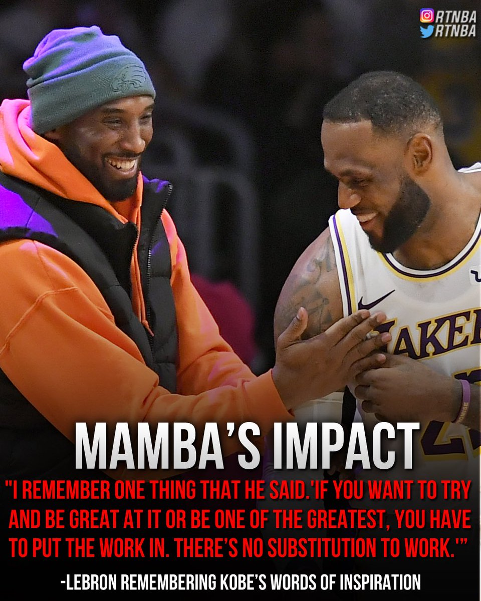 LeBron remembering Kobe's Words of inspiration #MambaForever