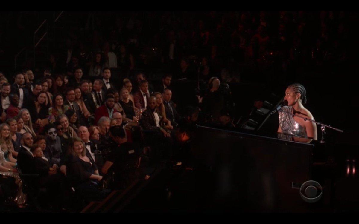 2020 Grammys: Alicia Keys' stepson wore skeleton face paint