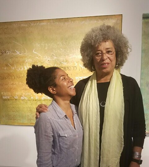Happy birthday Angela Davis! Working hard to tell your story in the GDR xo