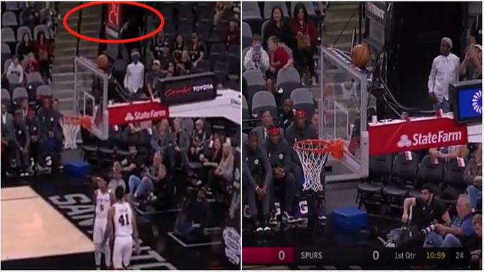 【影片】暴龍vs馬刺以兩個24秒違例開始比賽致敬Kobe,而後第一次進攻球停在了籃板上沿 !