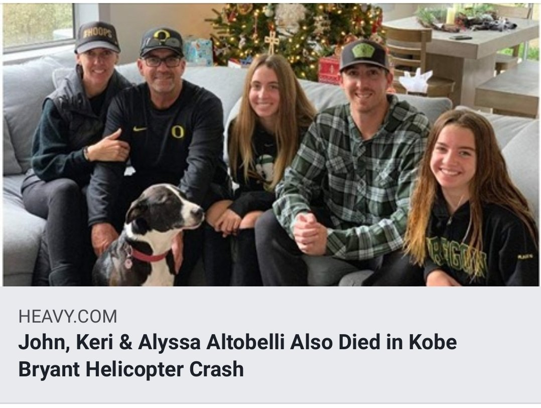 John Altobelli, the head baseball coach at Orange Coast College & former University of Houston baseball player, passed away with his wife Keri & daughter Alyssa in the helicopter crash that took the lives of Kobe & Gianna Bryant. May they rest in peace! Pray for their families! <br>http://pic.twitter.com/bzLLKj8ts1