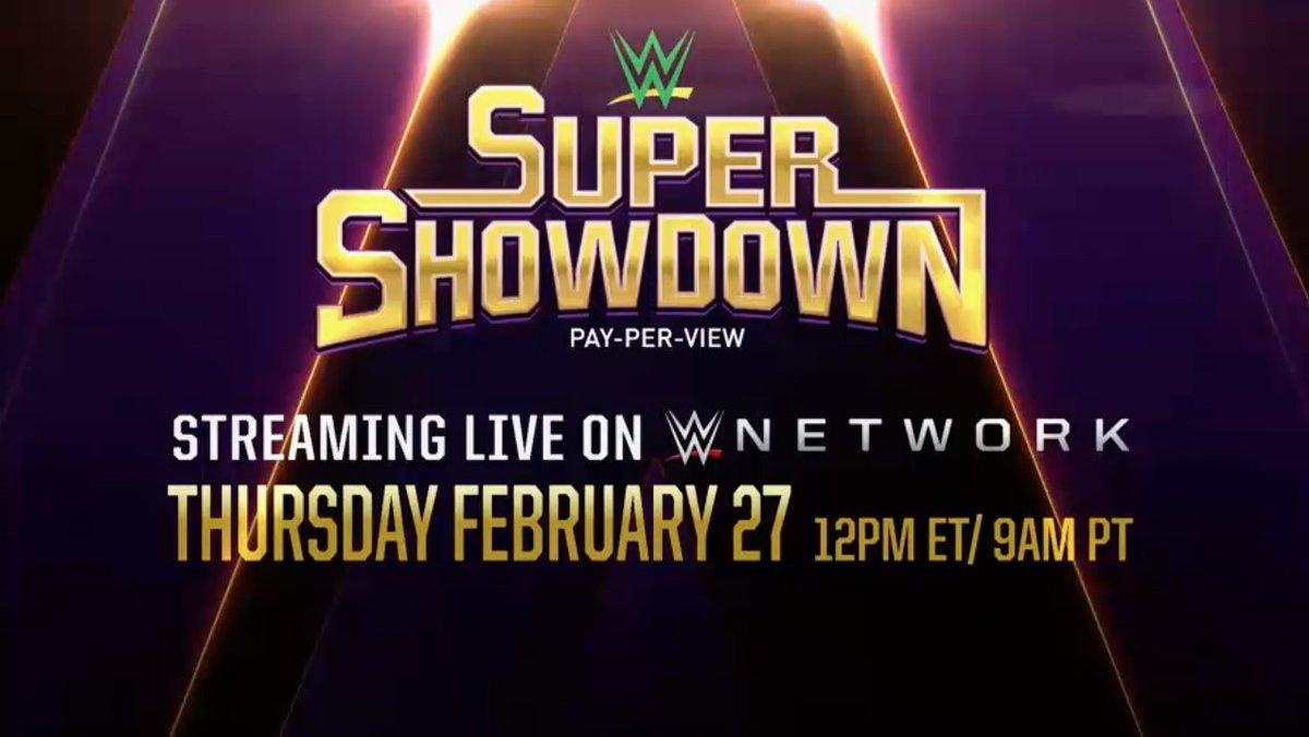 WWE Announces Super ShowDown 2020 From Saudi Arabia