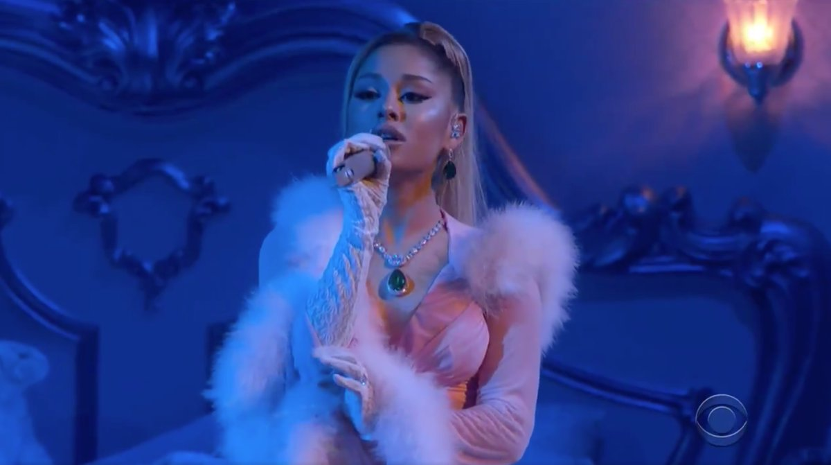 Replying to @litasadiamond: @ArianaGrande YOUR PERFORMANCE WAS THE BEST OF THE NIGHT!!!!!