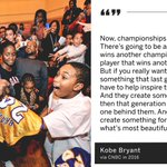 Image for the Tweet beginning: Kobe loved being an inspiration