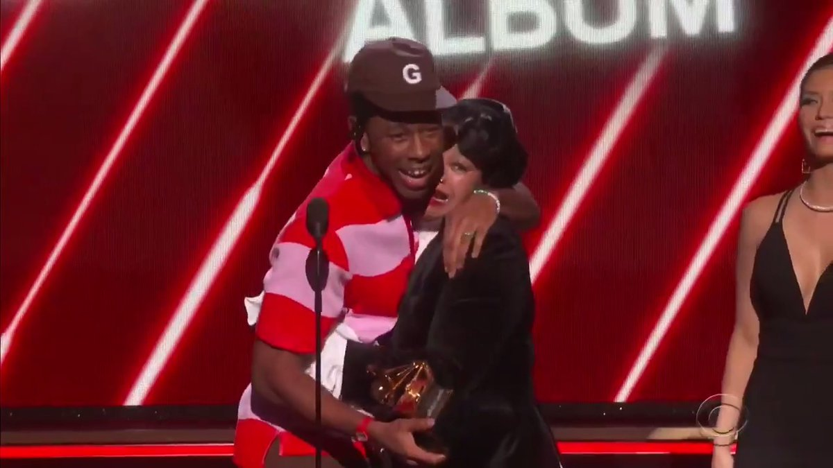 grammy award winning artist tyler the creator :,)