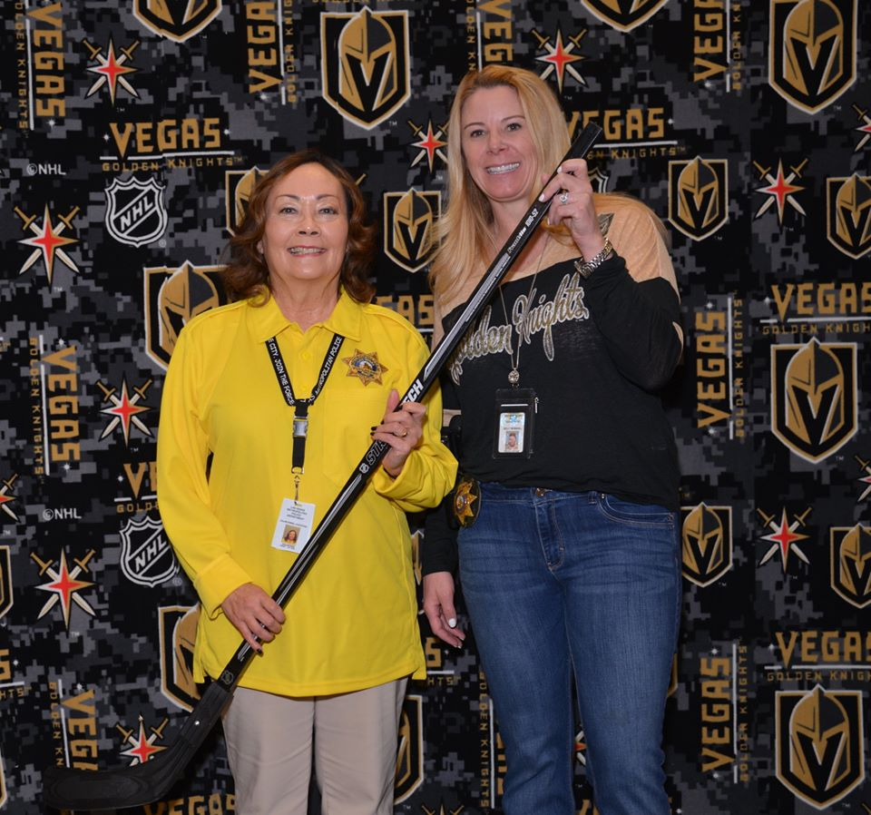 Showing support for the Las Vegas Golden Knights at the MVP Quarterly Commendations Meeting at LVMPD HDQ on January 25 with Assistant Sheriff Kelly McMahill. #GoTrueBlue #BackTheBlue #VegasBorn #GoKnightsGopic.twitter.com/t7YeoO1znt