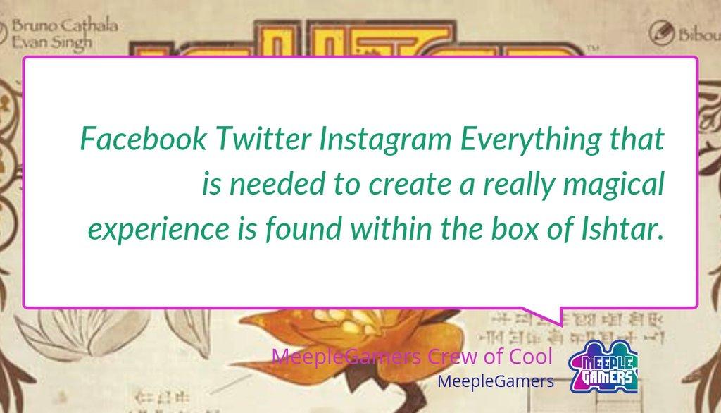 A little something we wrote recently: Ishtar: Gardens of Babylon by Iello – Review https://lttr.ai/MjCW #Jogodetabuleiro #Inanna #Brettspiel #BrunoCathala #Twitter #BoardGameReviews #Facebook #Tabletopgames #Juegodemesa #Boardgames #AreaControl #Biboun #Jeuxdesocietepic.twitter.com/LUJ8xD5BI7