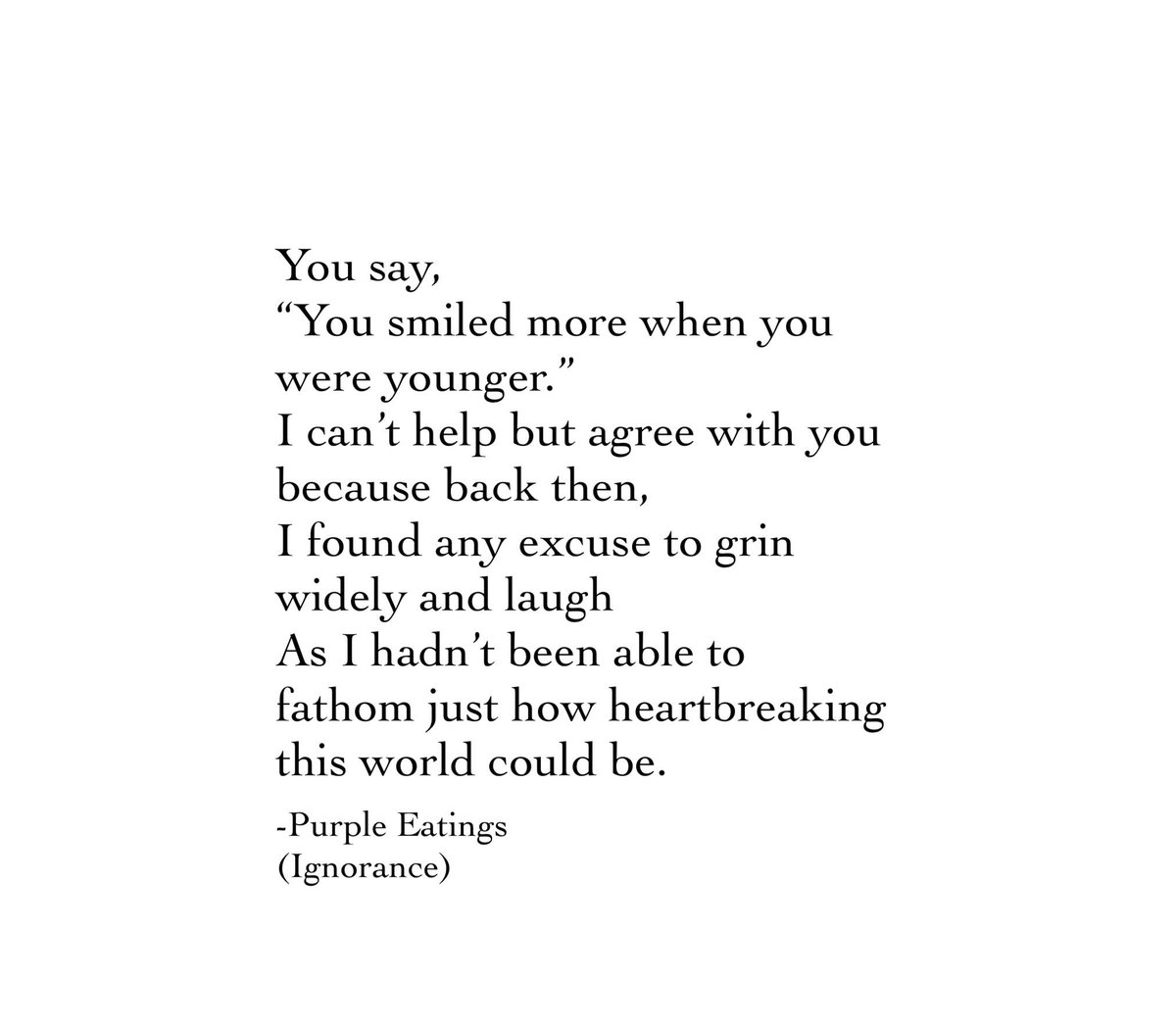 I miss myself.   #quote #quotesoftheday #poem #PoemADay #writing #writingcommmunity #feelings #smile #young #world #sad #heartbreaking #loss #happypic.twitter.com/m7CNikSNKd