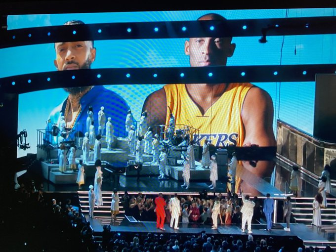 LONG LIVE NIPSEY. LONG LIVE KOBE. #TMC #RIPMAMBA #Grammys