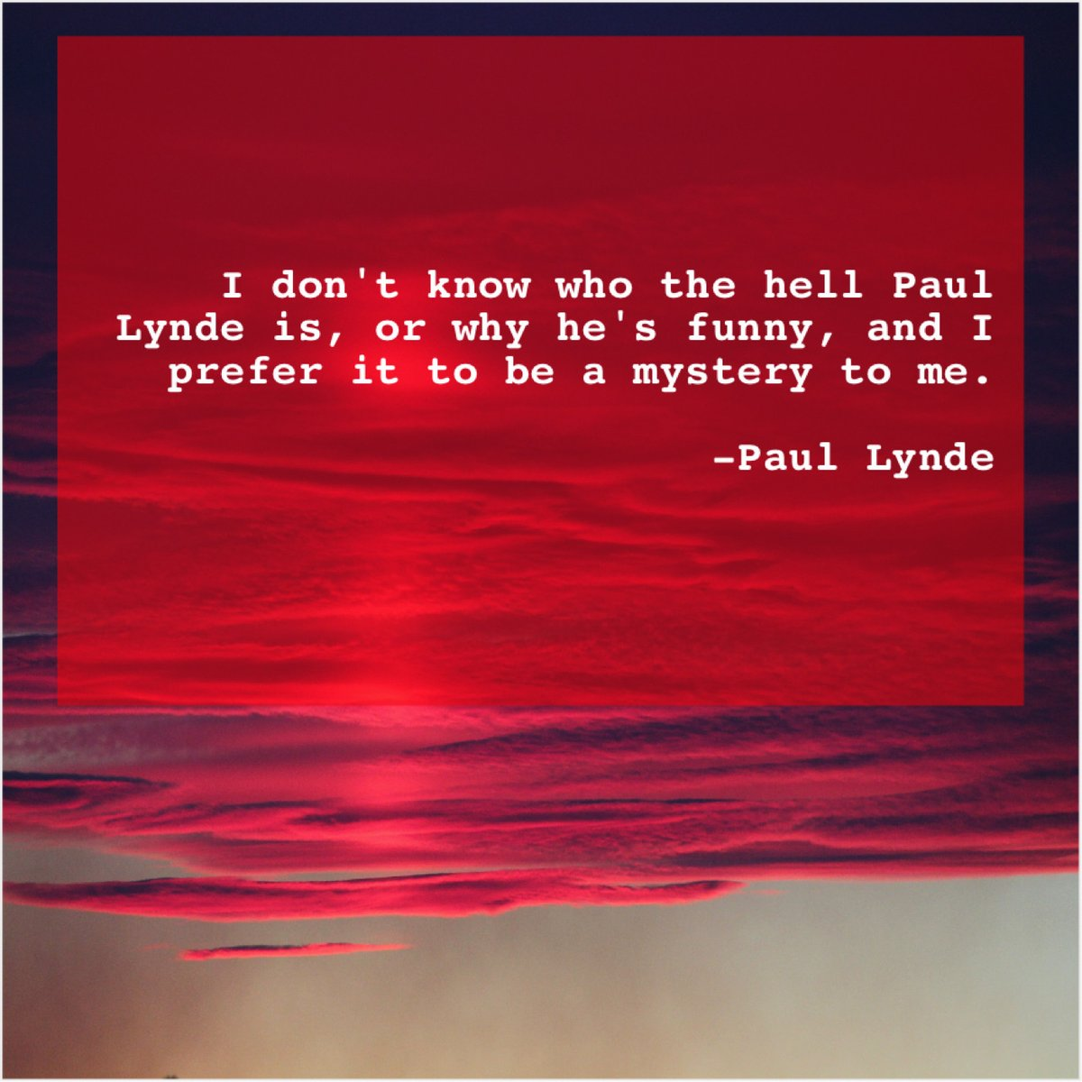 Paul Lynde – I don't know who the… http://dlvr.it/RNpd2m More Free Quotes #quoteoftheday #inspiration #motivationpic.twitter.com/rzgU6pQpPx