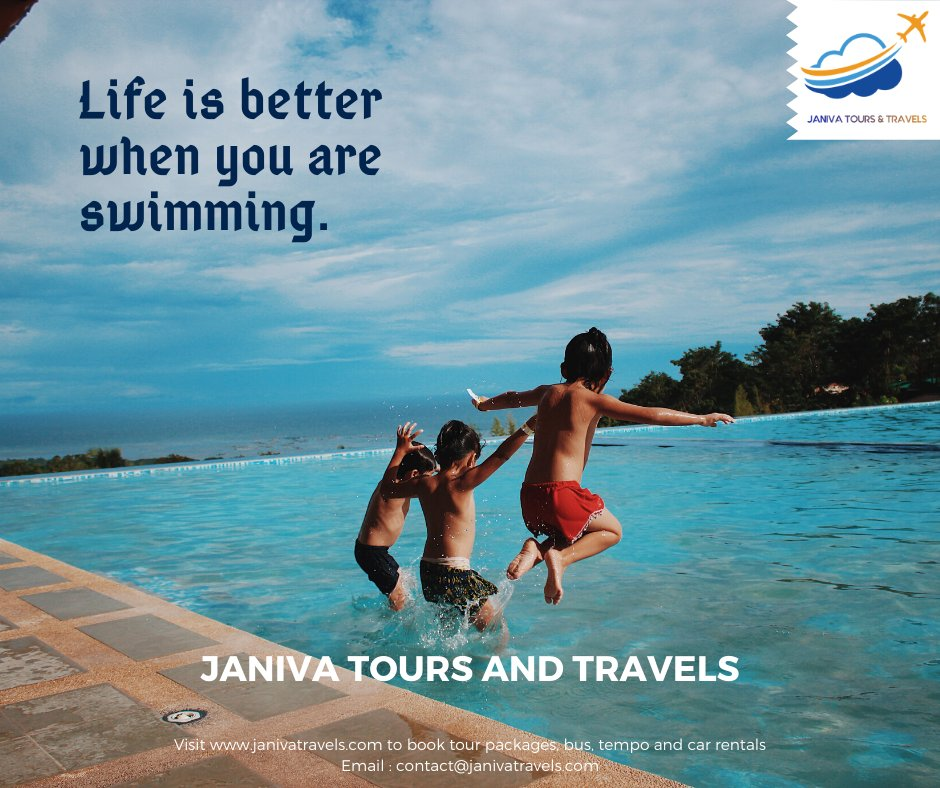 Life is better when you are swimming..#janivatravels #janiva #India #internationaltours #beach #Travelling #Travelbloh #Travelawesome #Vacation #Traveladdict #Holiday #Anotherworld #Traveltheworld #Travelphotography #Trips #friends #life #familyfun #familytime #Swimming