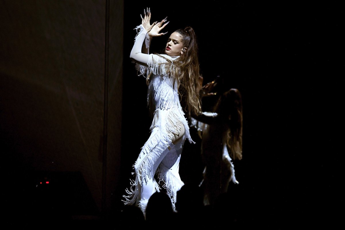 Watch @Rosaliavt perform 'Juro Que' and 'Malamente' at the #Grammys bit.ly/38Iij4E
