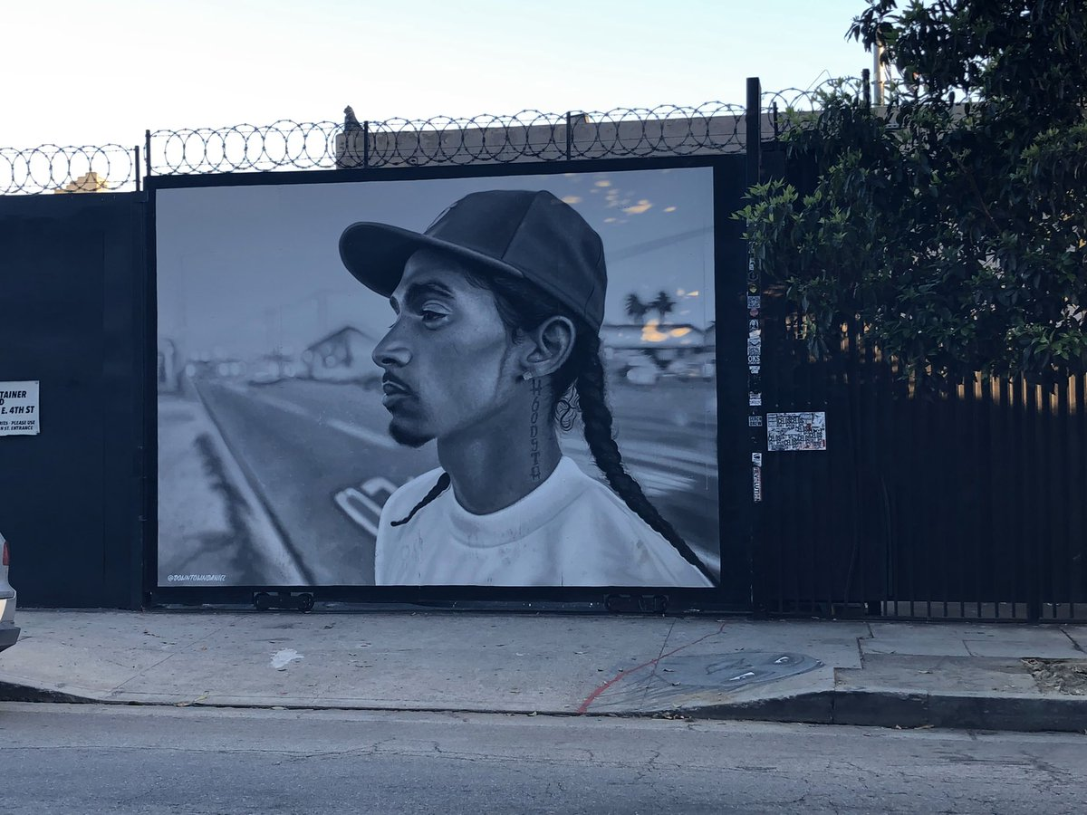 "#congrats to #nipseyhussle for winning ""Best Rap Performance"" winner at #grammys #grammys2020 @NipseyHussle #streetart #graffitiart #urbanart #cityofangelespic.twitter.com/LUhQrP2AXw"