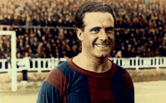"""Artistrean on Twitter: """"Héctor Scarone, el primer gran fichaje internacional del Fútbol Club Barcelona. Año 1926. Foto coloreada. #Barcelona… https://t.co/WkjgecpXnA"""""""