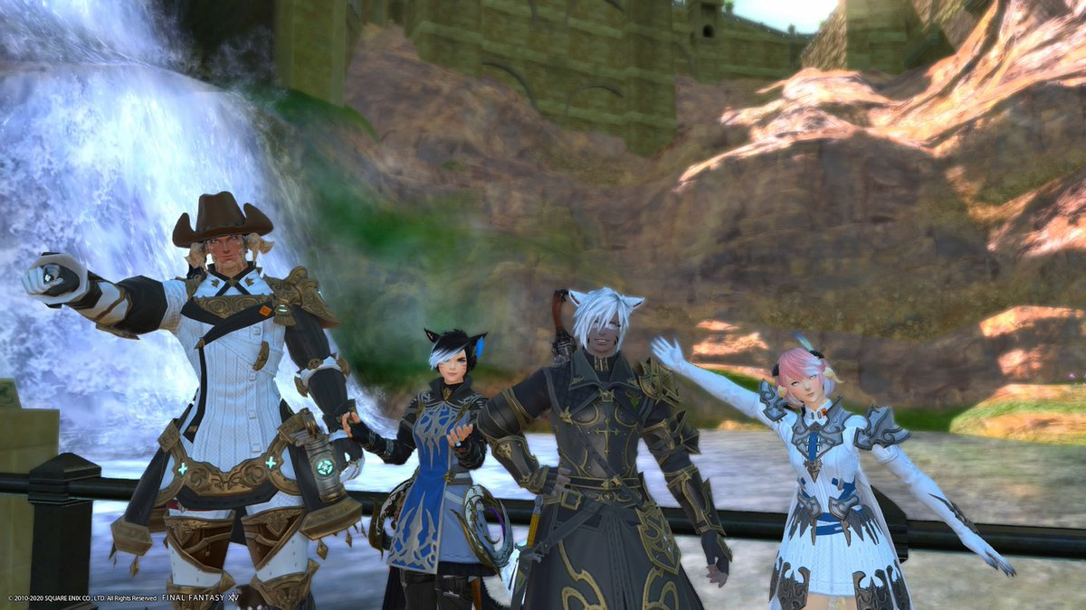 Some #FFXIV action tonight with @thenoblejazz, @TheCrimsonSpeed, and @AshtreeLogger! Guess which one's me ;D