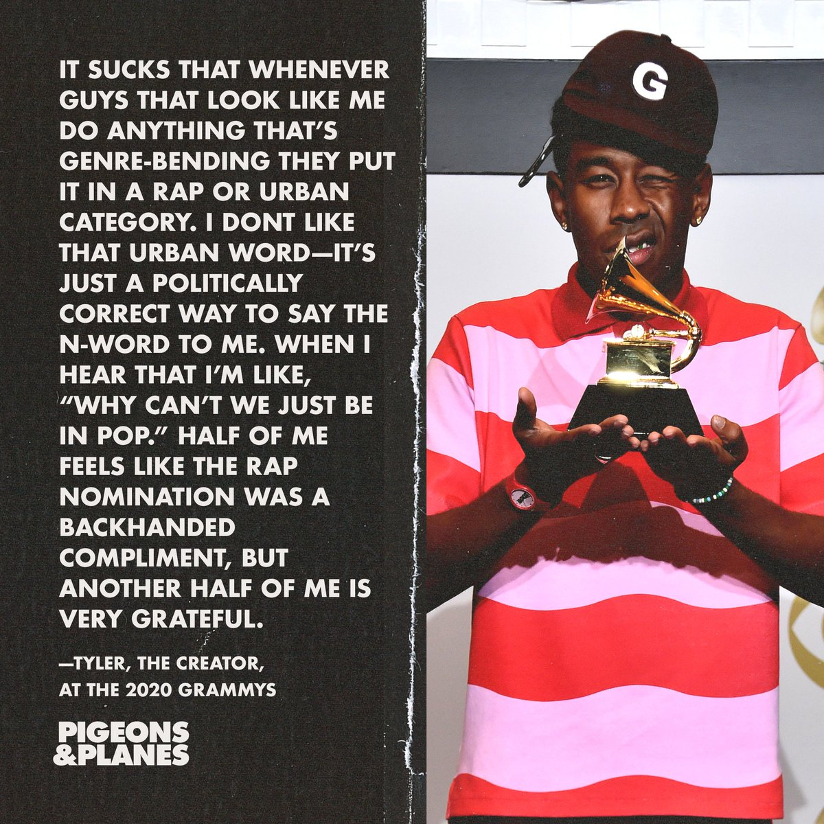 Pigeons Planes On Twitter After Winning Best Rap Album For Igor Tyler The Creator Was Asked About The Grammys Voting Controversy And Spoke On The Way Black Music Is Categorized Https T Co V4mp5qre6h