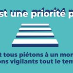 Image for the Tweet beginning: Faites attention aux piétons !