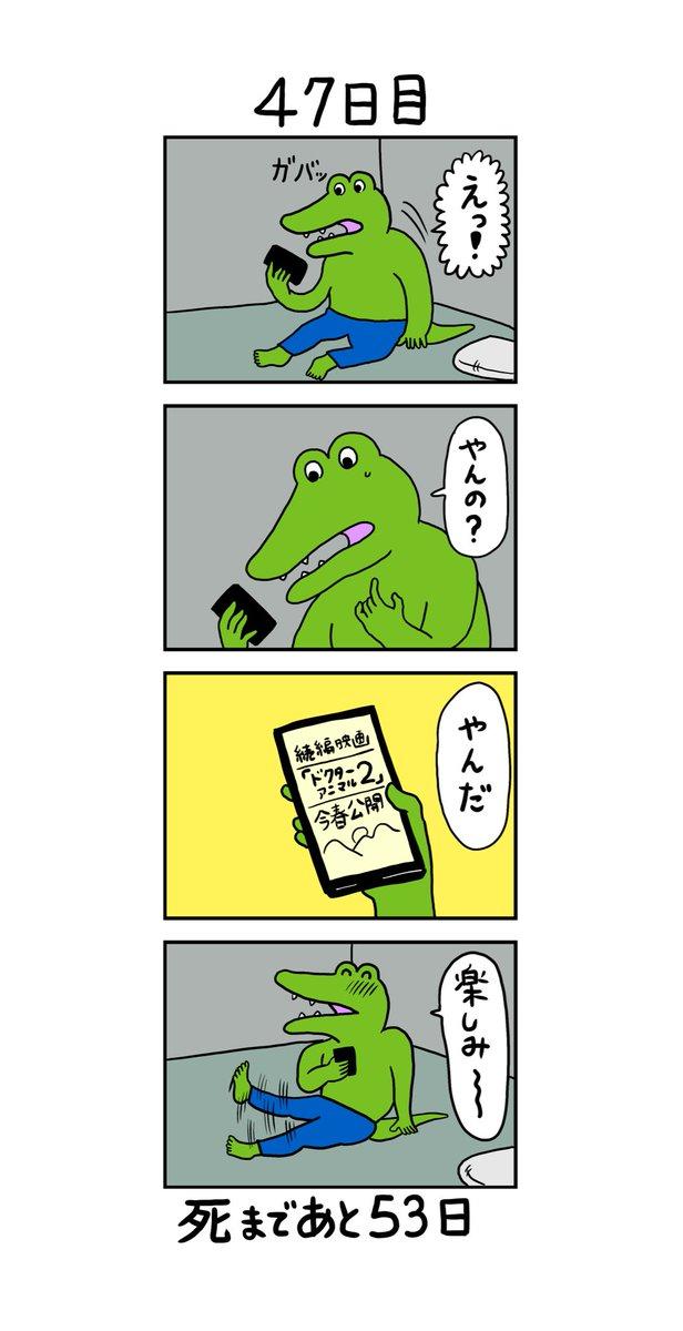 「100日後に死ぬワニ」47日目
