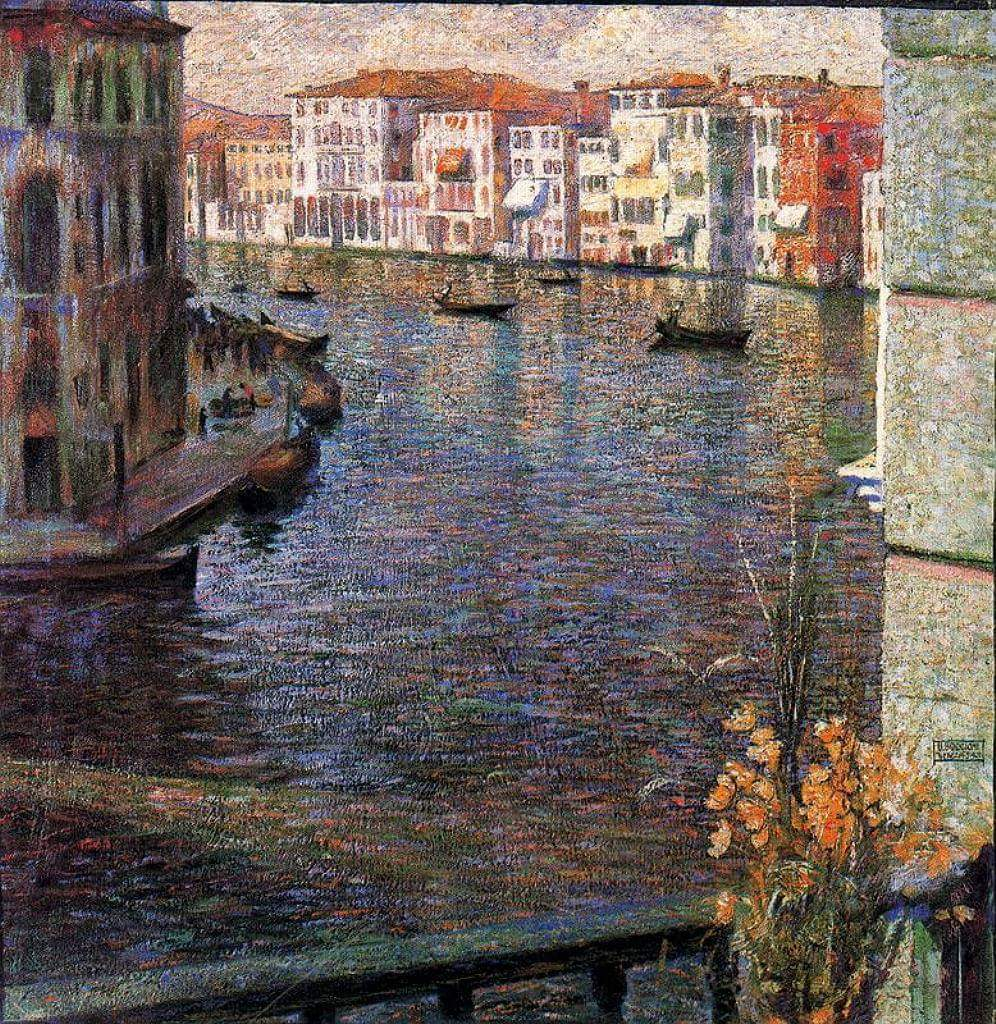 """""""The Grand Canal, Venice """". Umberto Boccioni. 1907. Posted by 78 Derngate on Facebook  #Iloveart #ArtYArt #Artlovers<br>http://pic.twitter.com/nTrfxeJCWF"""