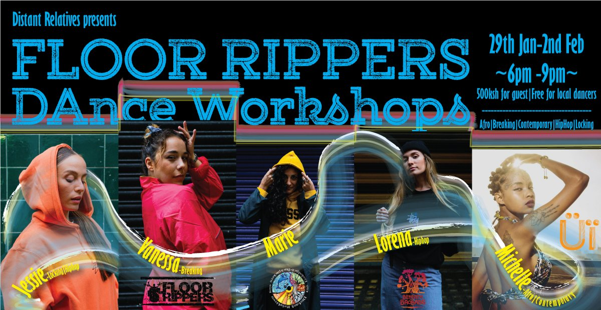 The Floor Rippers galz are about to land in our atmosphere. Get ready to dance as they host a Floor Rippers Galz Dance Workshops in Kilifi from Wednesday to Sunday at 6pm - 9 pm. All are welcome!!🥰🥰 https://t.co/GzHiGSJkqT