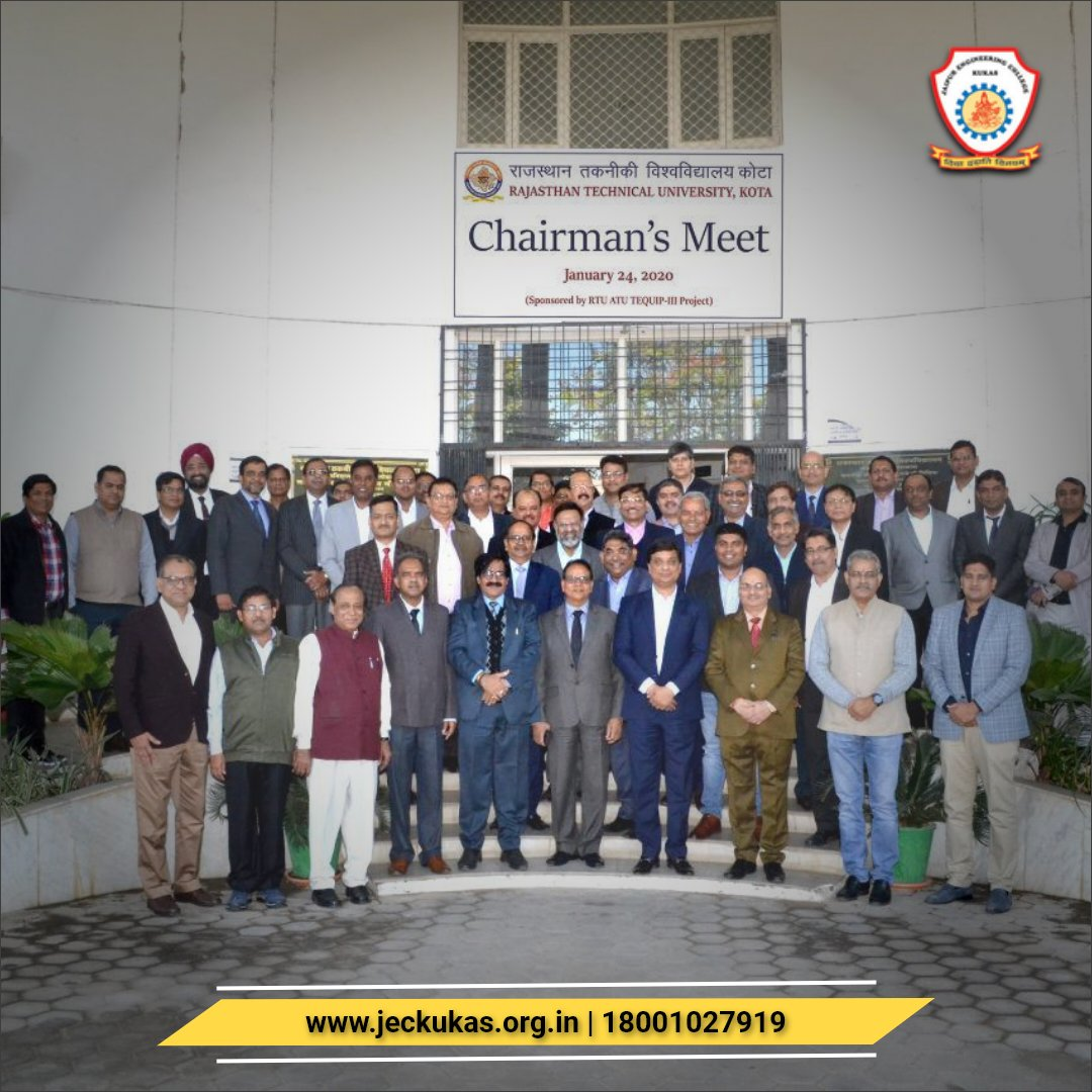 Mr. Lalit Saraogi (#JEC Group #Director) at the Chairman's Meet, #RTU Kota. Join us: http://jeckukas.org.in  Contact : 18001027919  #flightwithJEC #engineeringcollege #engineeringeducation #engineeringstudent #Jaipur #Rajasthan #Indiapic.twitter.com/zWohFYYgDv