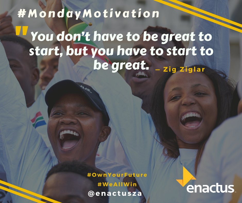 #MondayMotivation You don't have to be great to start, but you have to start to be great. #OwnYourFuture #WeAllWin pic.twitter.com/VlInxbpi8v