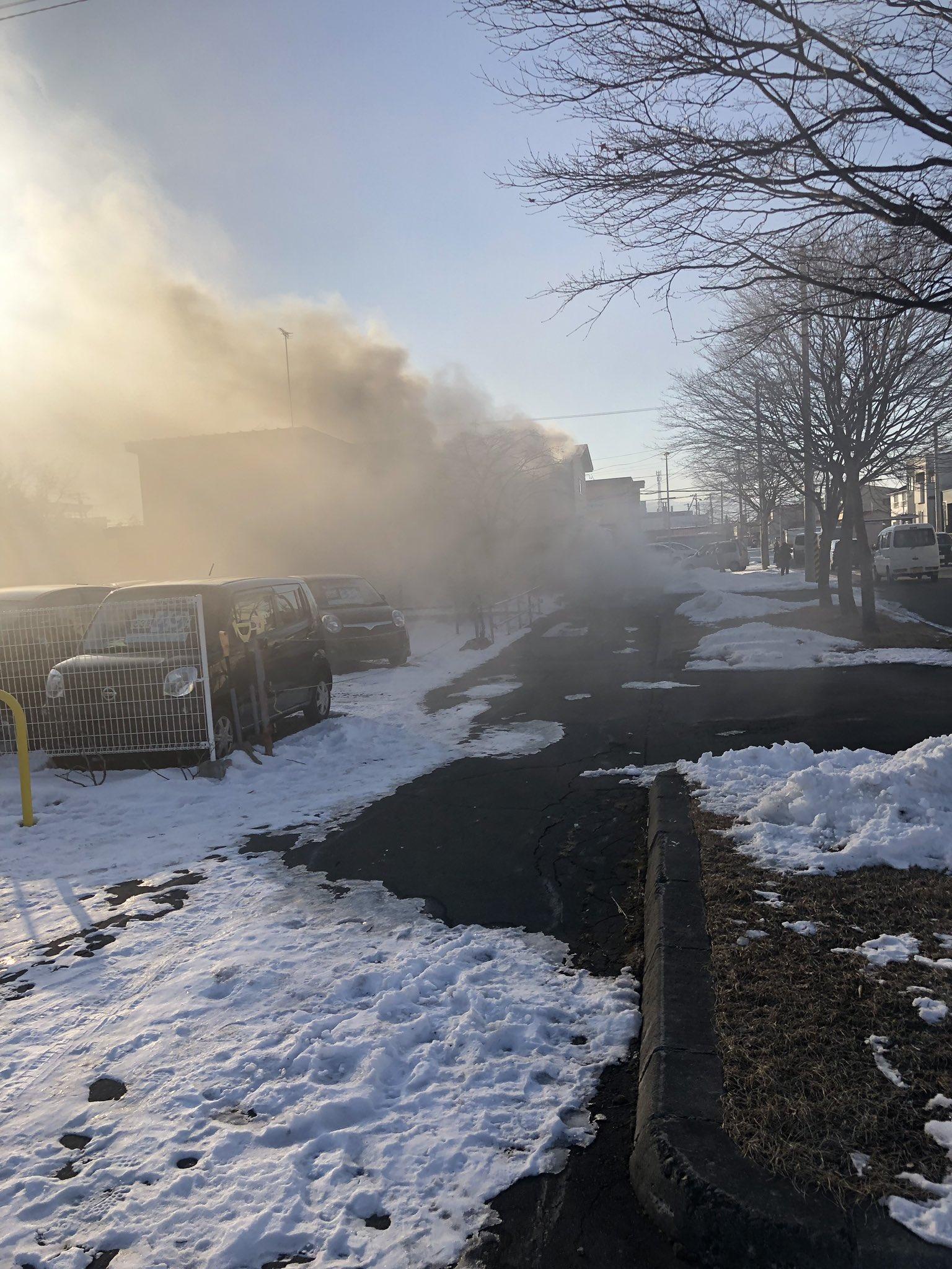 画像,ローソン 帯広西12条南二丁目店の裏方で火事です#帯広 #火事 https://t.co/EP2L9FWky6。