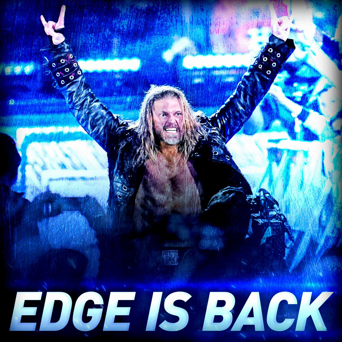 Never say never. The #RatedRSuperstar @EdgeRatedR is BACK! #MensRumble #RoyalRumble 🤘🤘